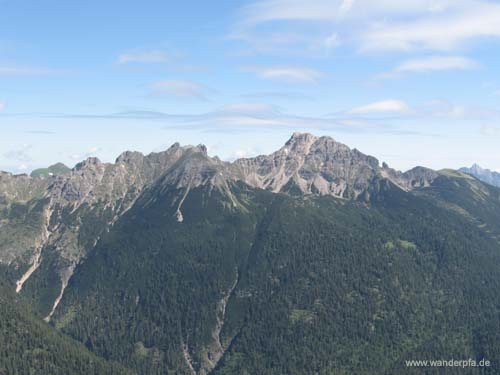 Berge der Vilsalpseegruppe - Leilachspitze (rechts) und Luchsköpfe