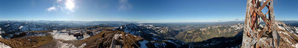 Panoramaaufnahme am Hochgrat vom 06.12.2015